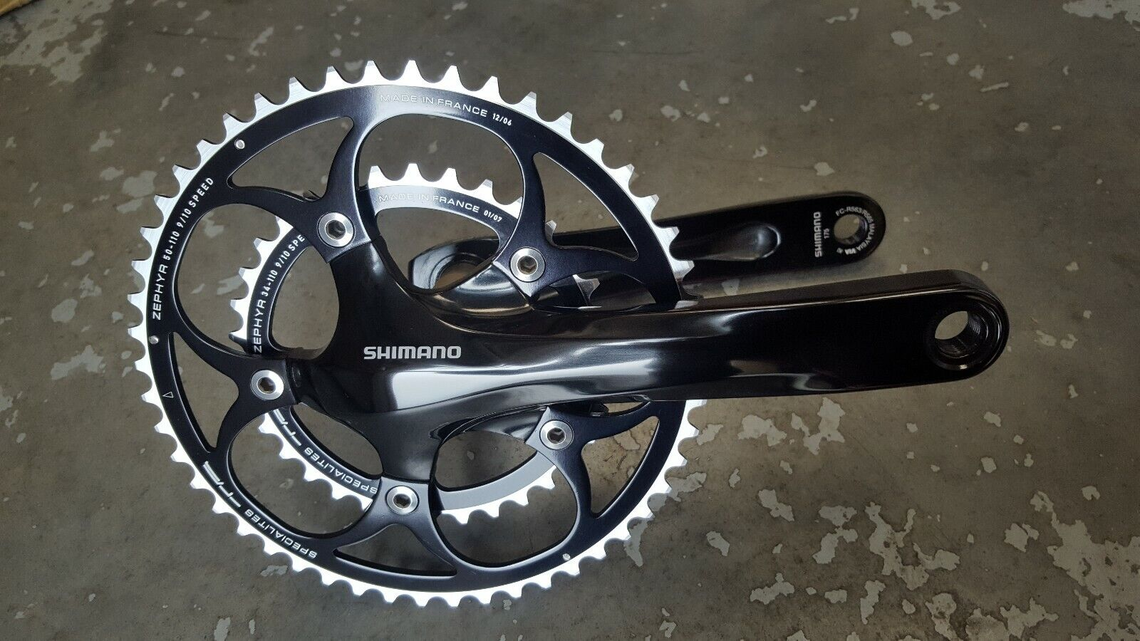 Shimano R565 Chainset (NEW) 9 10s Compact 172.5mm + TA Zephyr Chain Rings (NEW)