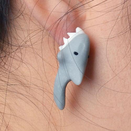 3D Shark Oreille Anneau Mignon Boucles d/'oreilles requin mordre l/'oreille look!!! 1 paire de requin Boucles d/'oreilles