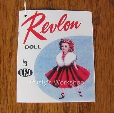 1950/'s Ideal LITTLE MISS REVLON doll WRIST hang TAG  #2 Reproduction