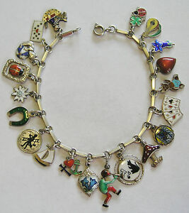 Image Is Loading Rare Vintage Antique German Silver Enamel Lucky Charm