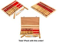 1 Pck, 12-pc Professional Carving Chisel Tool Set With American Ash Wood Handle