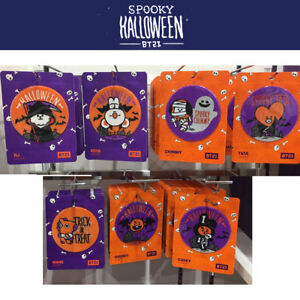BTS-BT21-Official-Authentic-Goods-Coaster-Halloween-Ver-7SET-with-Track-Number