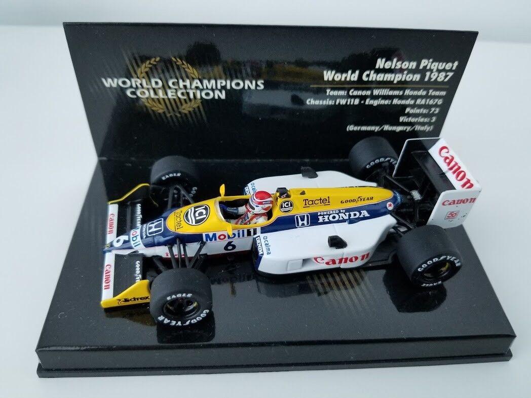 Nelson Piquet 1987  6 WILLIAMS HONDA FW11B World Champion