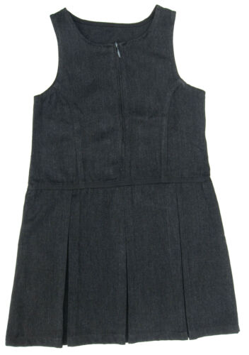 Girls School Pinafore Dress Charcoal Grey Dresses x 2 Ages 4-5Y up to 12-13Y