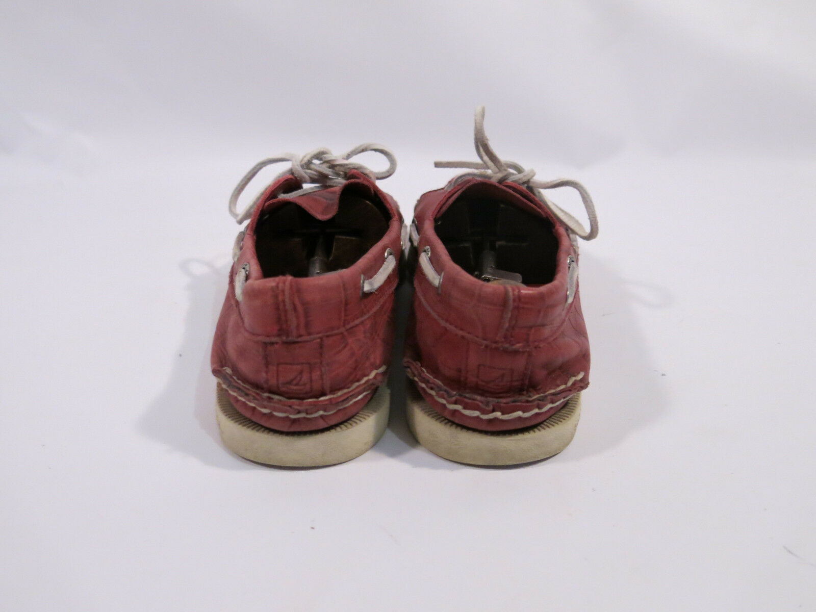 Sperry Uomo 9 M Red 2 Crocodile Gator Embossed Print Pelle 2 Red Eye A/O Boat Shoes 14e7f7