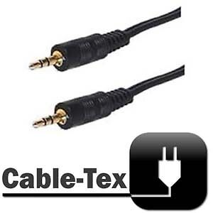 Cable-Tex-3-5mm-Stereo-Jack-Plug-to-Stereo-GOLD-1-2-Mtr