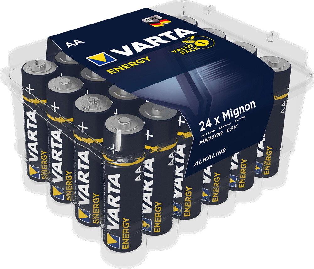 240 Varta 4106 Energy AA   Mignon Alkaline Batterien in 24er Box