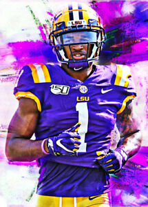 2021 Ja'Marr Chase LSU Tigers Football 9/25 Art ACEO Print Card By:Q