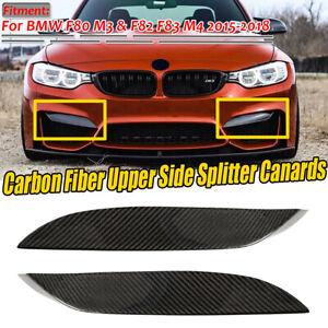 Fibra-De-Carbono-Parachoques-delantero-superior-Divisor-patranas-los-labios-para-BMW-F80-M3-F82-F83