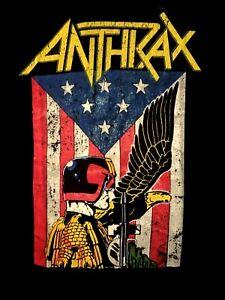 ANTHRAX-cd-lgo-Flag-Judge-DREDD-EAGLE-Official-SHIRT-XL-new