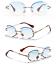 thumbnail 8 - Mens-Womens-Retro-Light-Weight-Vintage-Rimless-Oval-Diamond-Cut-Sunglasses