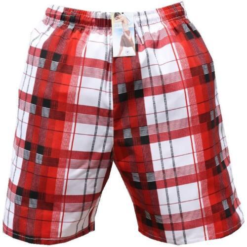 Uomo Pantaloncini da bagno bermuda costume a quadri 915 rosso rubino in M L XL XXL XXXL