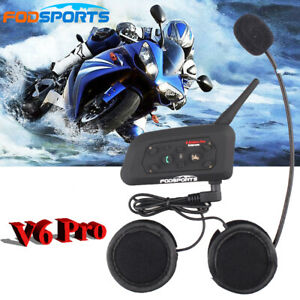 V6-Pro Motorrad Gegensprechanlagen Bluetooth Helm Intercom Headset Sprechanlag