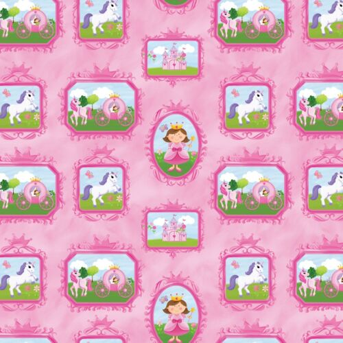 Little Princess Blocks  Northcott Quilt Fabric by the 1//2 yd #41-21