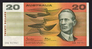 Australia-R-409b-1985-20-Dollars-Johnston-Fraser-Gothic-VF