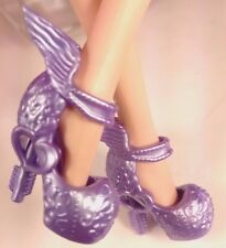 Purple C.A.Cupid Ever After Monster High Unpainted Winged Doll Shoes USA Seller