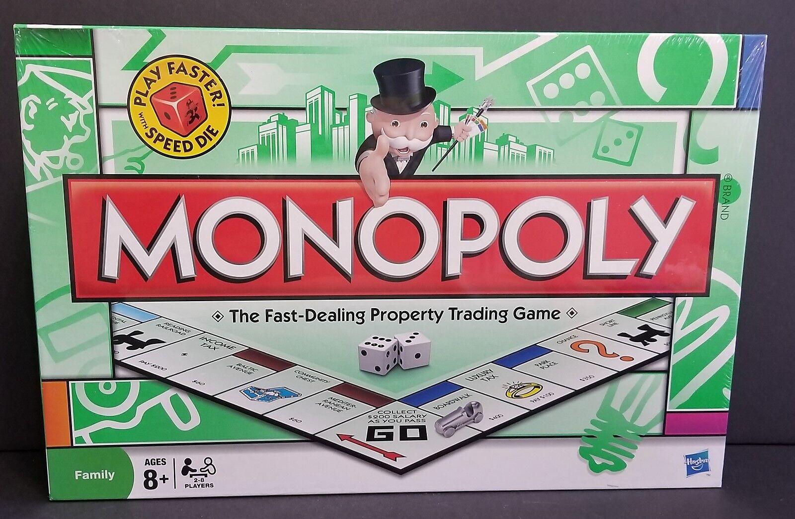 Monopoly 2008 Speed Play Parker Bredhers Includes Speed Die Dice NIP UNOPENED