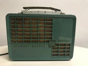 Stewart-Warner-Gadabout-Radio-9170-13-Mid-Century-1953-Teal-Green-Vintage
