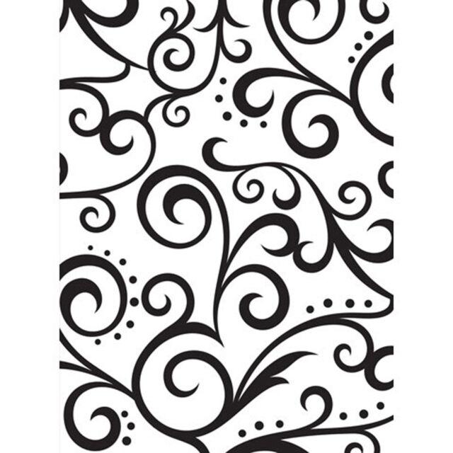 Scroll Background Darice Embossing Folder for Cardmaking, Scrapbooking, etc