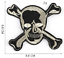 miniature 10 - PIRATE SKULL Embroidered Biker Patches Skeleton Iron / Sew on Badges Grim Reaper
