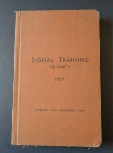 ORIGINAL-1937-1940-War-Office-Signal-Training-Vol-1-P-1224-Hardback