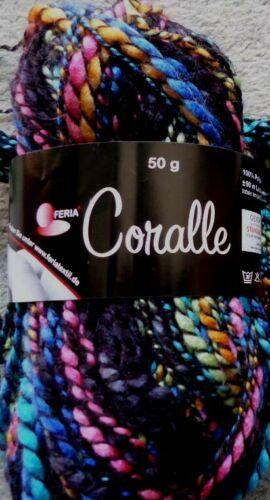 Efecto Garn lana de punto lana cuerda Garn coralle fb.856 50g nuevo