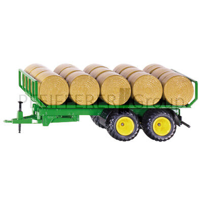 Siku Farmer 1:32 Rundballenanhänger FöRderung Der Produktion Von KöRperflüSsigkeit Und Speichel Baufahrzeuge & Traktoren Blechspielzeug