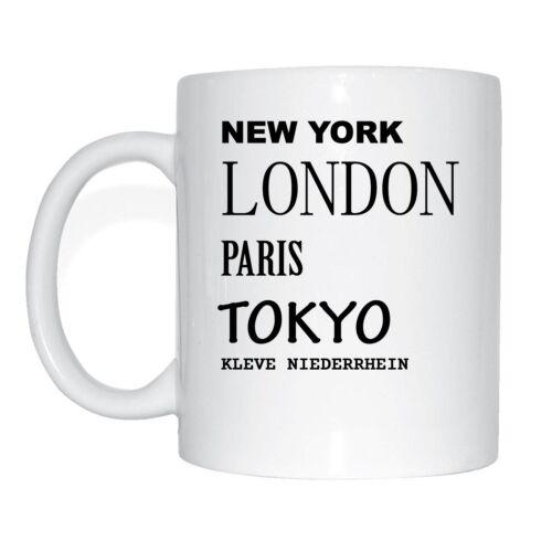 Kleve Niederrhein tasse de café tasse tokyo New york paris Londres