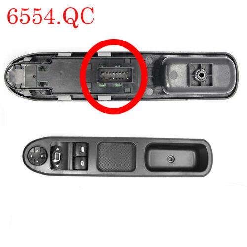 Commande Bouton Leve Vitre retroviseur pour Peugeot 207 6554.QC 6554QC