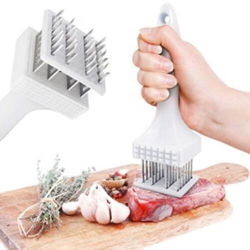 Meat Poultry Tenderizer Stainless Steel Blades Hammer Option Needles Random TEUS