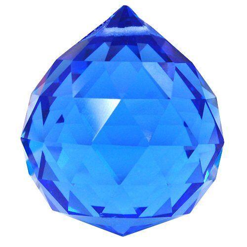 Beautiful Sparkling Dark Blue 40MM Crystal Ball Prisms