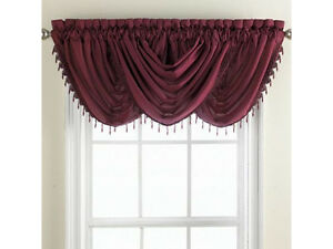 Chris Madden 168 Mystique Waterfall Valance With Beaded Trim