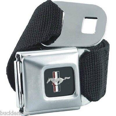 Official FORD MUSTANG seatbelt  Seat Belt style Belt Buckle combo BUCKLEDOWN