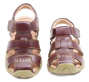 cf20d8806 Hot!Boy s Toddler Little Kid Leather Closed Toe Outdoor Sport Sandal ...