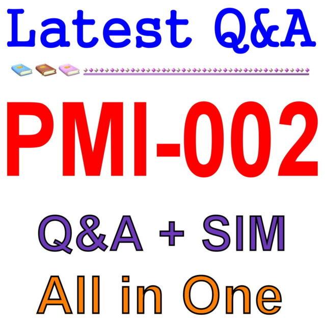 PMI Certified Associate in Project Management CAPM PMI-002 Exam Q&A PDF+SIM