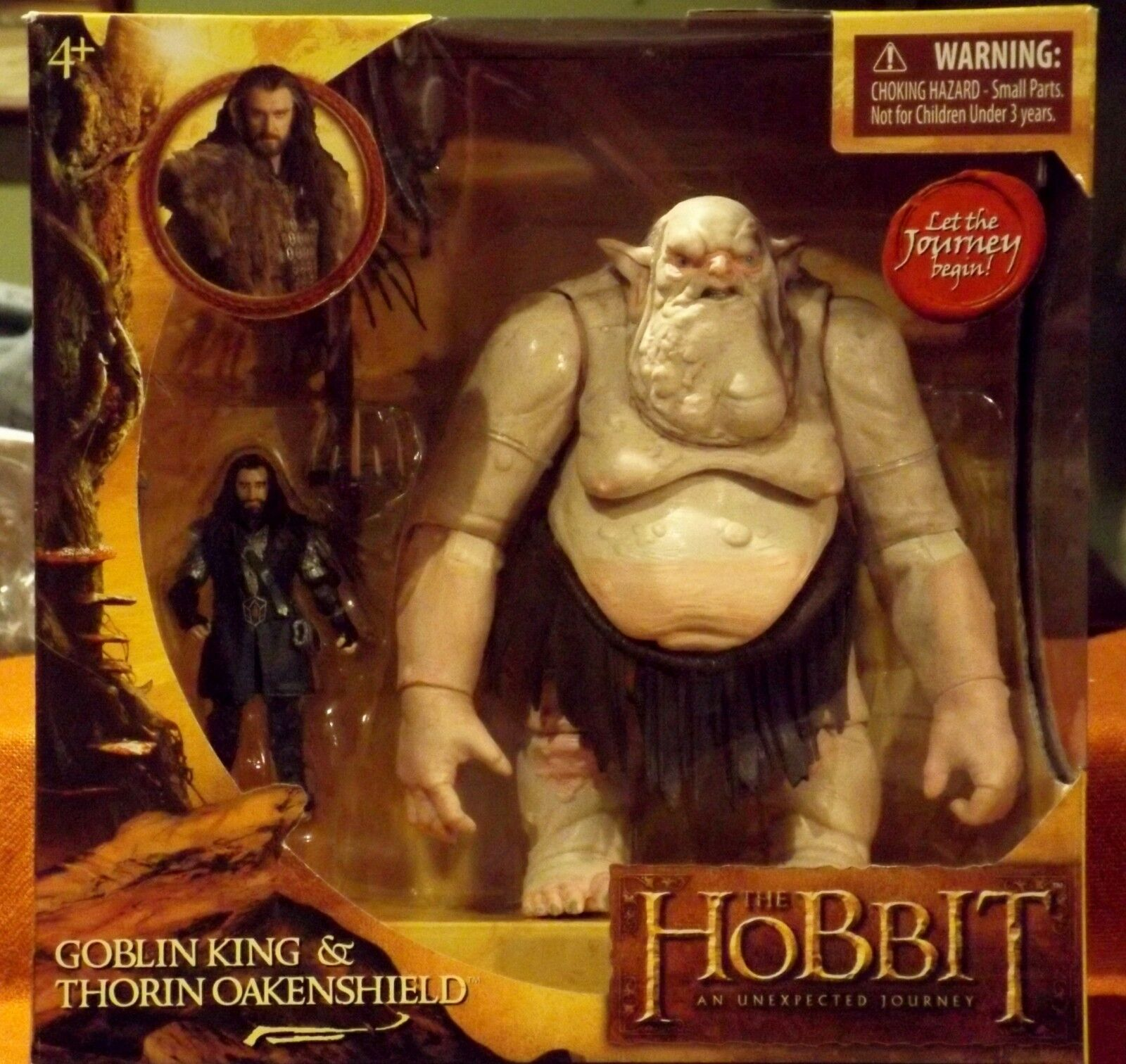 Hobbit Goblin re & Thorin Oakenshield azione Fig Unexpected Journey AUTHENTIC