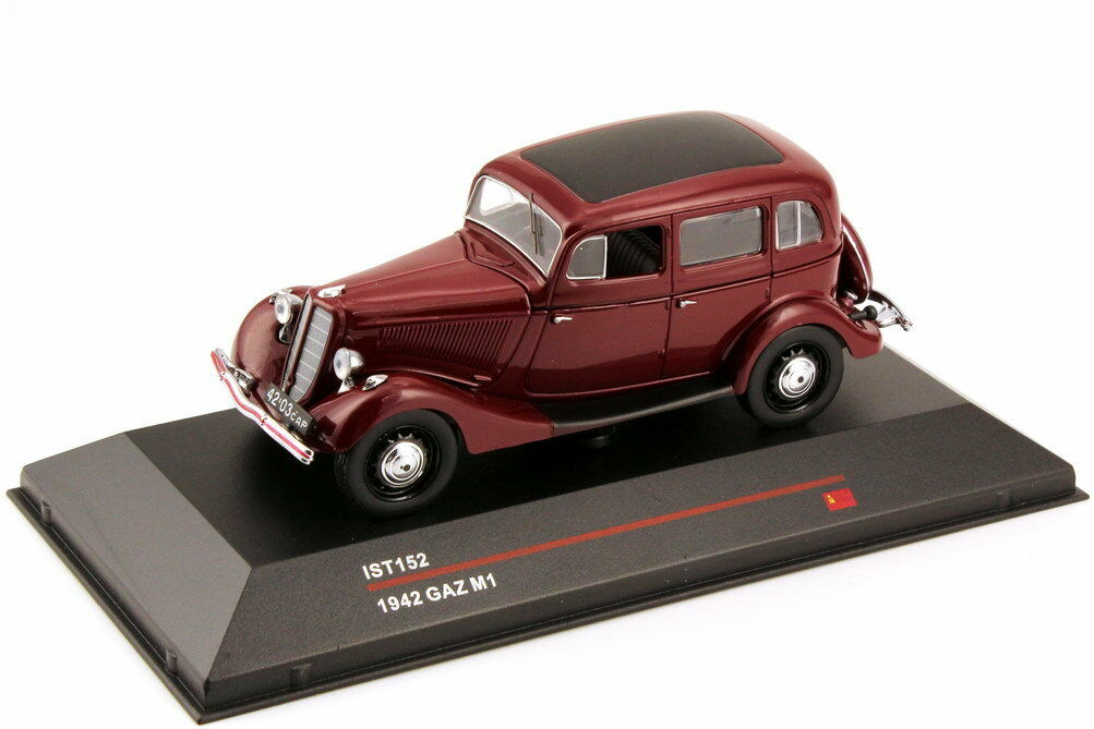 1 43 Gaz M1 1942 Dark Red Red - Ist Models IST152