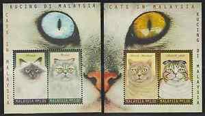 (233M)MALAYSIA 1999 CATS MS PAIR FRESH MNH