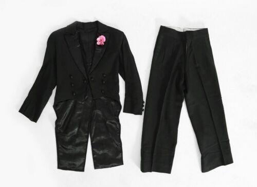 Rare Antique vintage 20s kid's deco black Tuxedo t