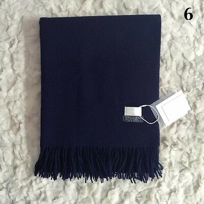 2016Fashion Women Winter Cashmere Blend Pashmina Solid Tassel Shawl Wrap Scarves