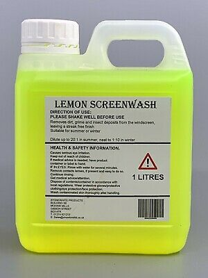 1l Lemon Screenwash Concentrated Car Windscreen Washer Fluid Free Delivery Ebay