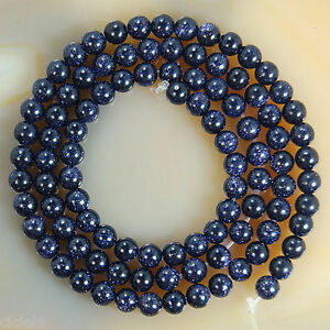 New-4-6-8-10-12MM-Natural-Blue-Sand-Spot-Round-Gemstone-Loose-Spacer-Beads-Stone