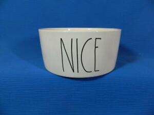 Rae-Dunn-Artisan-Magenta-White-NICE-Large-Bowl-Pet-Dog-Food-Animal-6-034-EXCELLENT