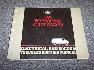 1995 ford econoline e150 e250 e350 electrical wiring vacuum rh ebay com Ford Vacuum Diagrams F 250 351 Ford Taurus Vacuum Hose Diagram