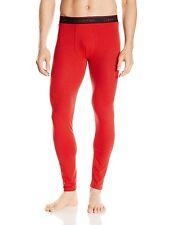 $98 CALVIN KLEIN Mens RED Stripe Stretch THERMAL BASE LAYER LONG JOHNS NM1227 XL