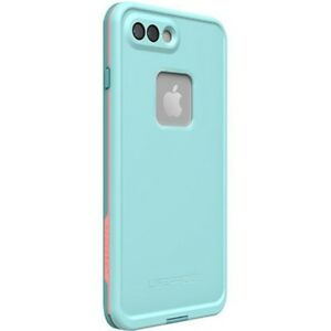 quality design 48d4c 0fb7b Details about Authentic LifeProof FRE Case iPhone 7+/8 + Plus Blue/Coral  Wipeout NEW* 77-56983