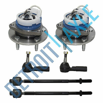 2 Front Wheel Hub and Bearing Assembly ABS AWD FWD + 2 Outer and 2 Inner Tie Rod