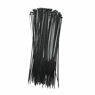 NEW BLACK 500 PCS 8 INCH ZIP TIES NYLON 40 LBS UV WEATHER RESISTANT WIRE CABLE