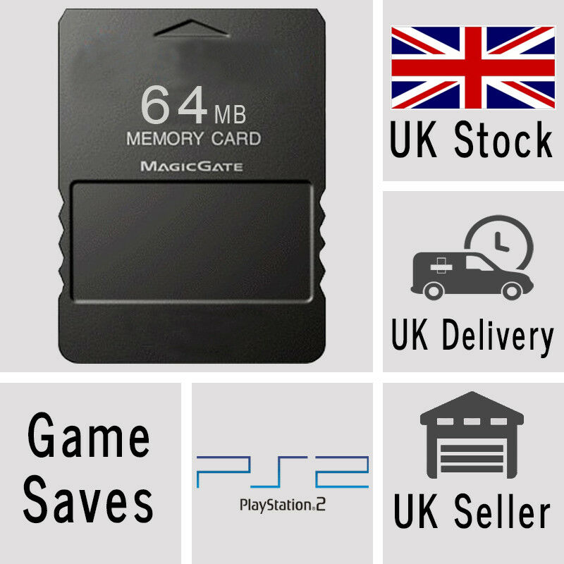 Brand New 64 MB Sony PlayStation 2 PS2 Memory Card in 64MB PS 2 Sealed UK Item