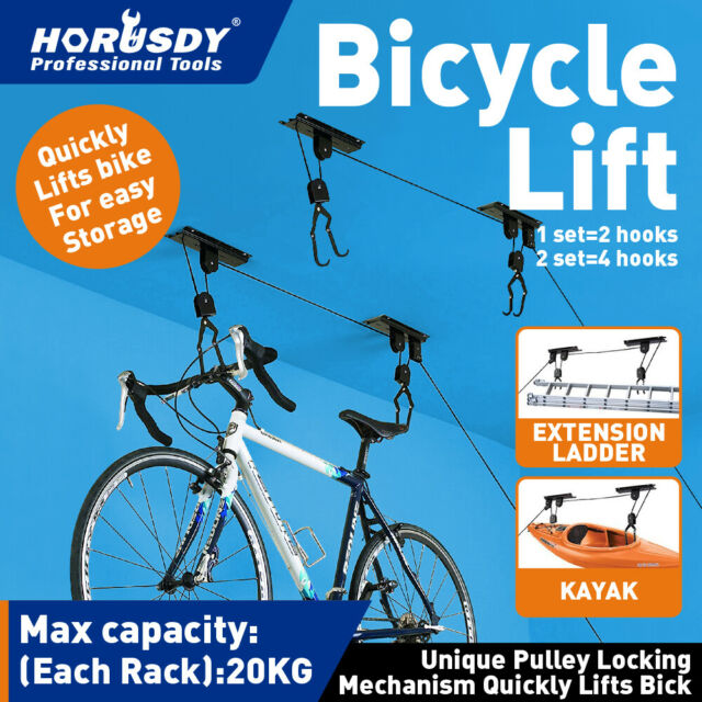 Rad Easy Bike Bicycle Lift Ceiling Mounted Hoist Storage Hanger Pulley Rack